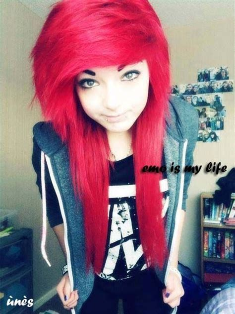 Cute Scene Girl With Red Hair Scene Hairstyle