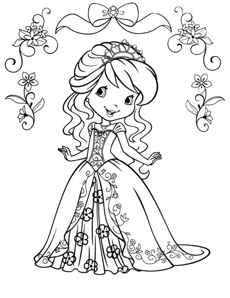 Top Free Printable Strawberry Shortcake Coloring Pages