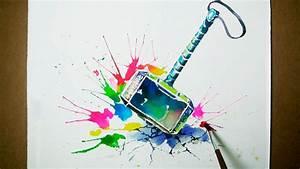 thor 39 s hammer watercolor painting jayart
