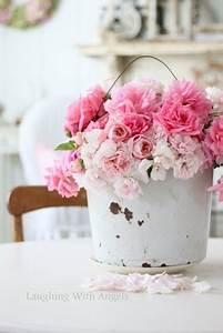 17 meilleures idees a propos de fleurs style shabby chic With idee deco entree maison 17 le style shabby chic dans la decoration de maison printaniare