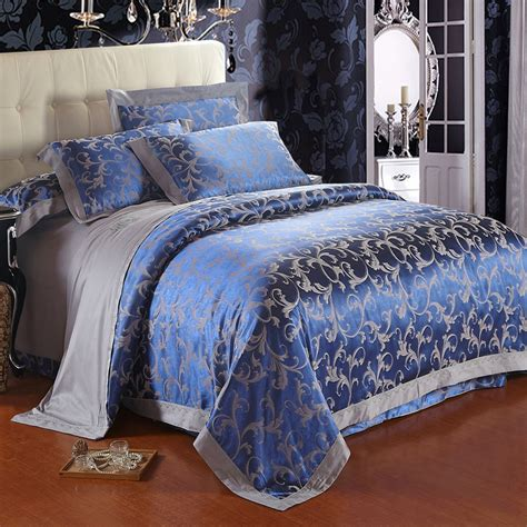 free shipping top 4pcs jacquard cotton bedding sets