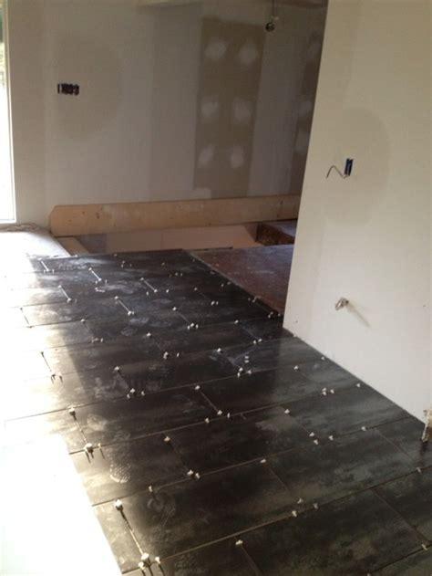 which way should rectangular tiles run in smaller