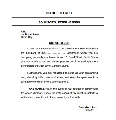 nj notice to quit form notice to quit nj sle archives satpuralawcollege org