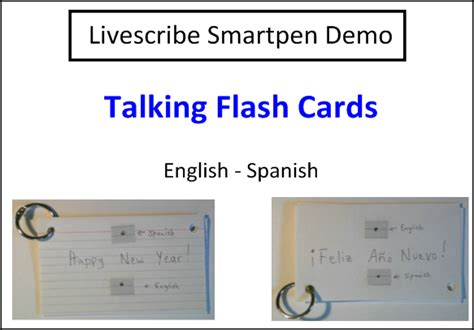 Livescribe Smartpen Applications In Education » How To Create Talking Flashcards