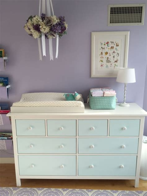 ikea hemnes dresser painted aqua     changing