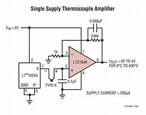 Thermocouple Amplifier With Cold Junction Compensator 10mv   U00b0c Analog Output