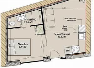Conseil aménagement intérieurs 2 pièces 25m²
