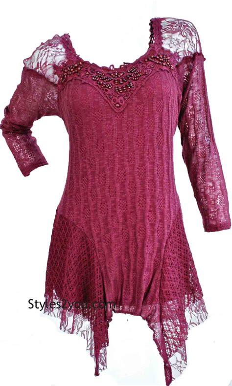 lana victorian blouse  size  burgundy axtsbu pretty angel blouses