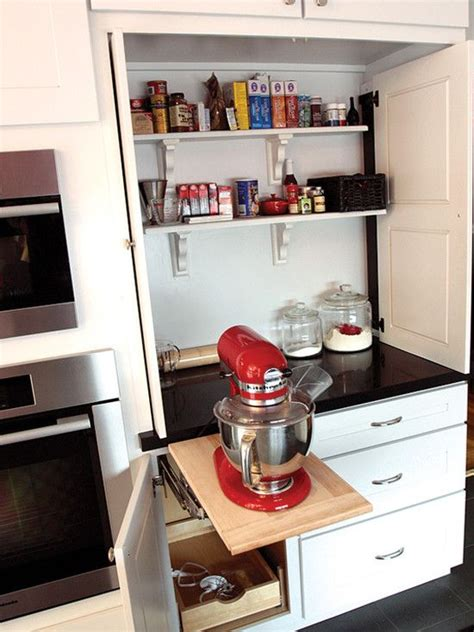 kitchen aid cabinets  popup mixer shelf traditional