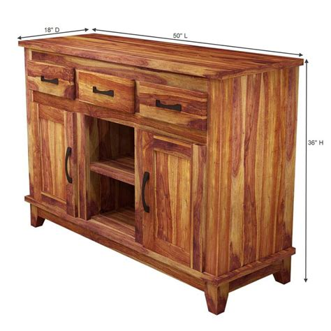 Rustic Sideboards by Nevada Modern Solid Wood 3 Drawer Rustic Sideboard
