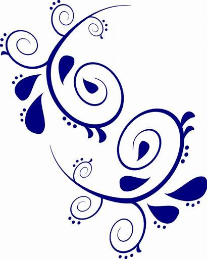 Scroll Clipart Paisley Scrollwork Navy Clip Designs