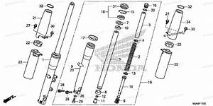 Honda Motorcycle 2015 Oem Parts Diagram For Front Fork