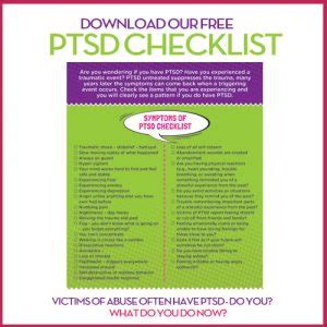 ptsd checklist signup narcissist abuse support