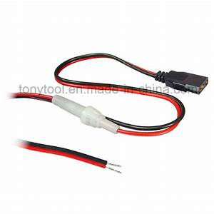 China Cb Radio 3-pin 2-wire Replacement Fused Power Cord Plug 12v