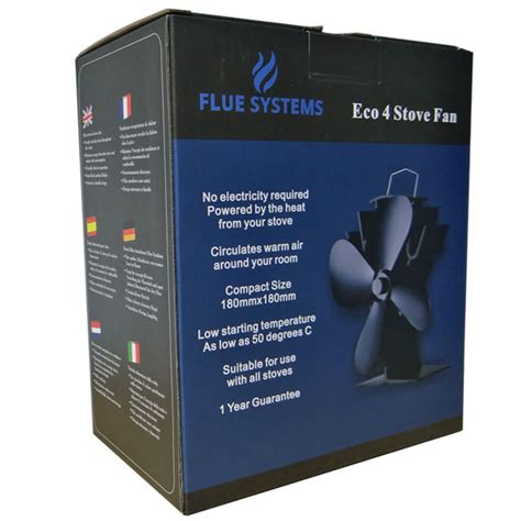 eco  stove fan  fluesystems