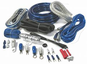 Amp Kit 2500 Watts 4 Gauge Power Wire Wiring Kit Install