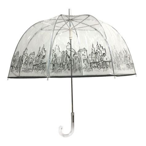 London Fog 52 in. Arc Clear Umbrella in City-90476 - The ...