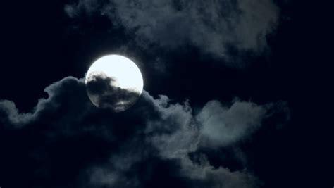 eerie moon drifting amid stock footage 100