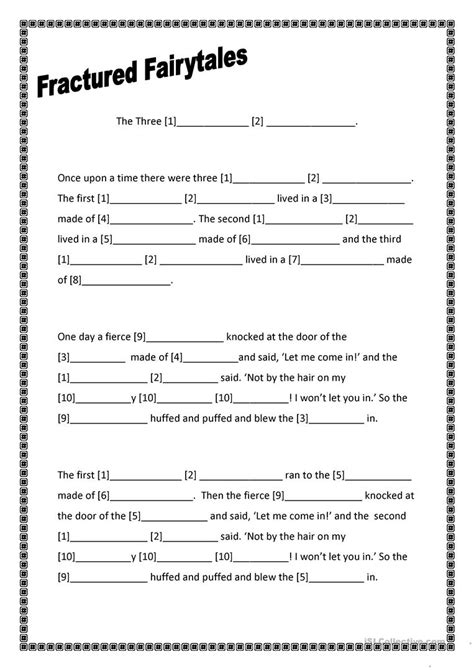 Elements Of Fairy Tales Worksheets  Free Worksheet Printables