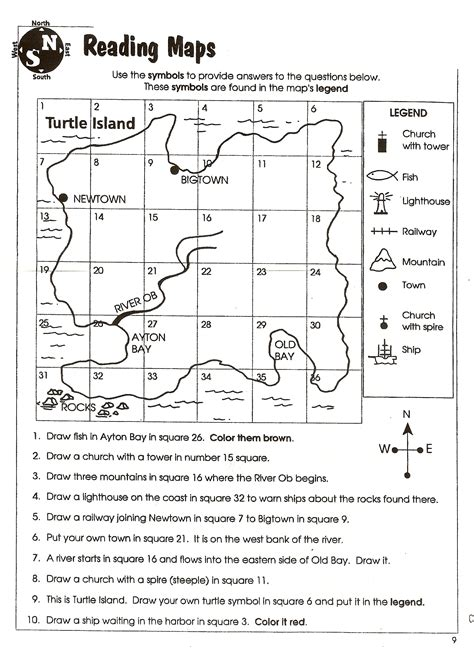 worksheets reading a map social studies skills mr proehl s social studies class