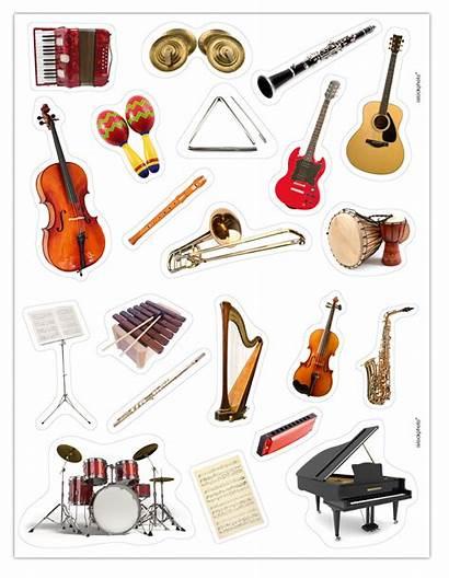 Musique Instruments Gommettes Instrument Orchestre Classique Une