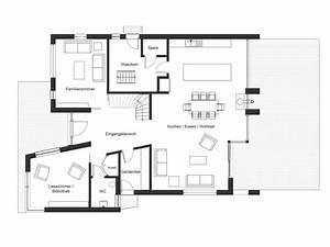 Grundriss MFH Doppelhaus Bauhaus 18 EG Grundrisse Floor