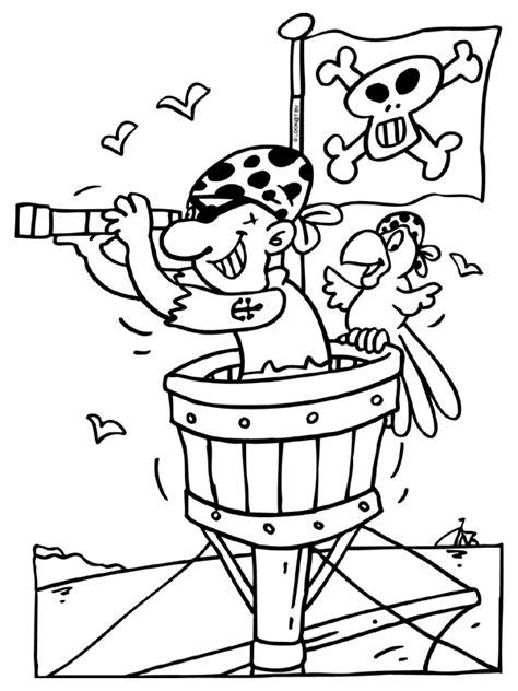 Kleurplaat Papegaai Peuters by Kraaiennest Papegaai Piraat Knutselpagina Nl