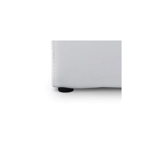 pouf en cuir blanc pouf cube simili cuir blanc