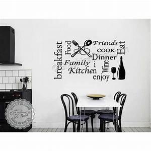 wall stickers for the kitchen peenmediacom With best brand of paint for kitchen cabinets with wall decor word art