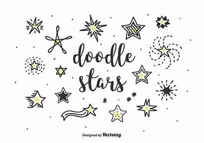 Star Vector Shooting Doodle Stars Vectors Clipart