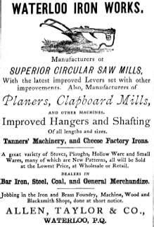 allen taylor  waterloo iron works history