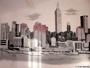 Décoration New York Chambre : decoration chambre new york chambre adulte avec un grand lit et ottoman new york with ~ Melissatoandfro.com Idées de Décoration