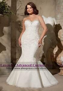 romantic sexy mermaid lace plus size wedding dress vintage With plus size sexy wedding dresses