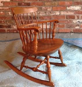 2 nichols stone traditional windsor back rocking chairs