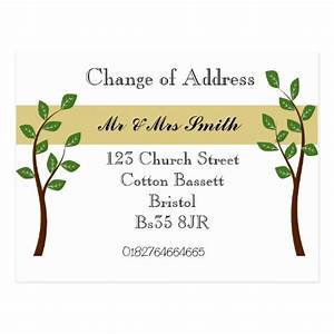 change of address cards change of address card templates With change of address announcements postcards