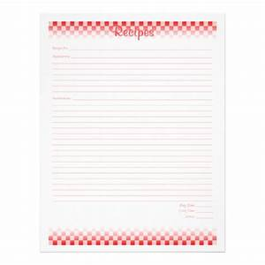 Checkered Board Recipe Pages Flyer Design | Zazzle