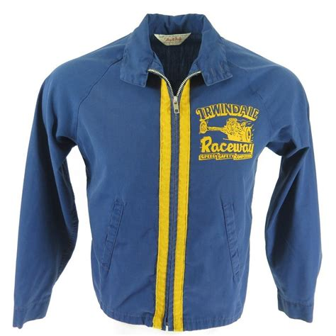 Racing Jacket by Vintage 60s Racing Jacket Mens S Drag Race Stripe 50 50