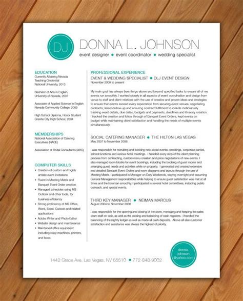 Customize Resume by Custom Resume Template Color Circle Initials
