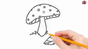 How to Draw a Mushroom Step by Step Easy for Beginners ...
