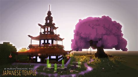 cool house  minecraft japanese house tutorial temple youtube