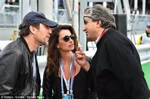 Penelope Cruz with husband Javier Bardem watching Lewis ...