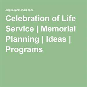 Celebration of life service memorial planning ideas programs moms party pinterest for Celebration of life program ideas