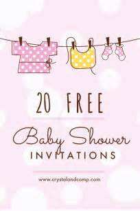 Free Baby Shower Printable Invitations by Printable Baby Shower Invitations