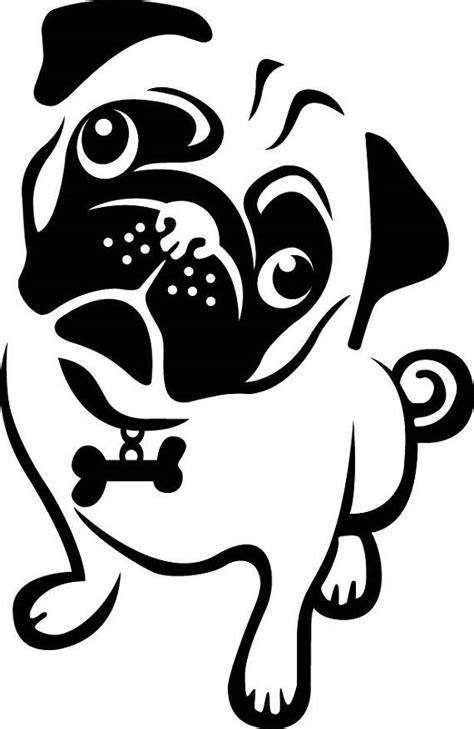 Pug Clip Pug Clipart Easy Frames Illustrations Hd