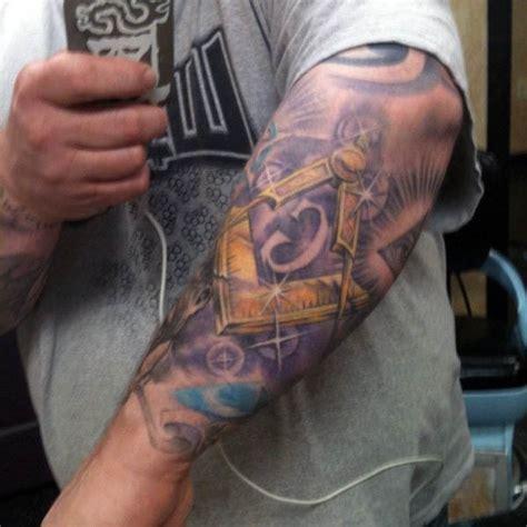 masonic tattoos  men freemasonry ink designs