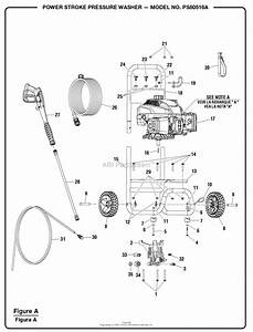 Homelite Ps80516a Powerstroke Pressure Washer Parts