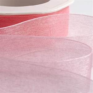 Pink Organza Ribbon with Woven Edge at Favour This