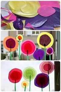Blumen Basteln Fensterdeko : anleitung f r das fensterbild blumen im fr hling basteln fensterdeko diy basteln und ~ Markanthonyermac.com Haus und Dekorationen