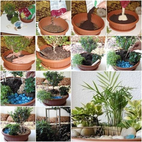 how to make pot mini garden step by step diy tutorial