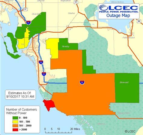 tracking power outages   area wgcu news